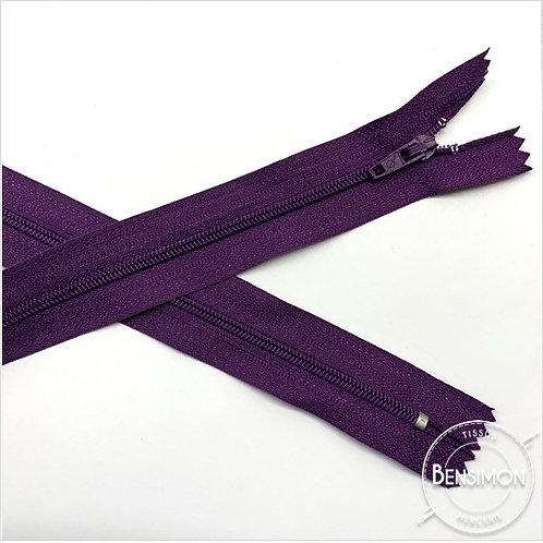 Fermetures nylon 3mm non séparables - Violet 20 à 60cm