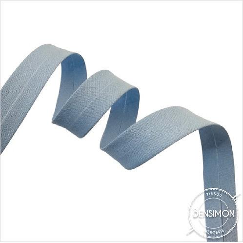 Biais coton replié 20mm - Bleu ciel n°1131