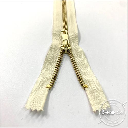 Fermeture métal 5mm non séparable - Blanc