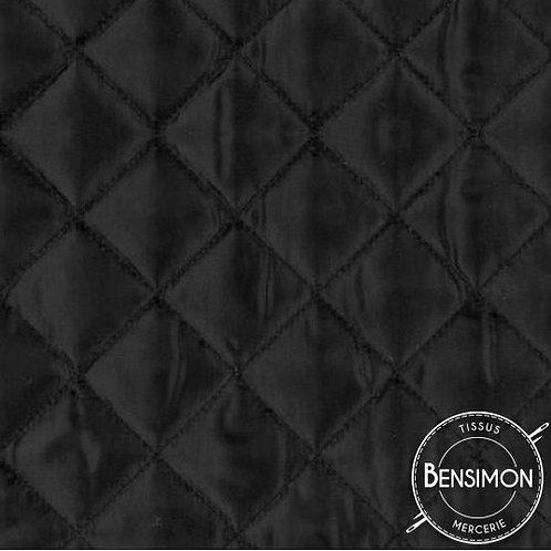 Tissu doublure matelassée - Noir X 50cm