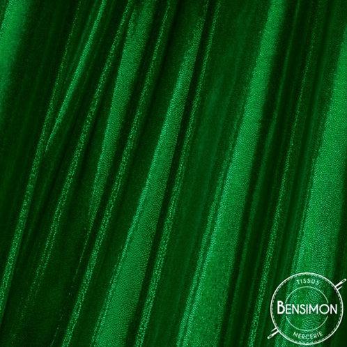 Tissu extensible Lycra stretch lamé brillant pailleté justaucorps académique vert bouteille