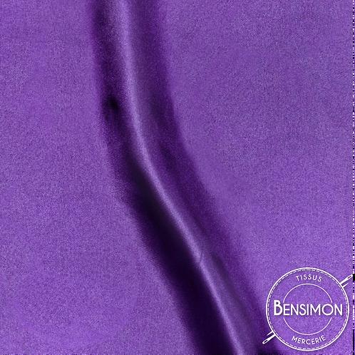Tissu satin uni léger - Violet X 50cm