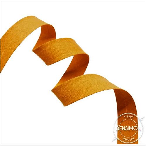 Biais coton replié 20mm - Jaune d'or n°1033