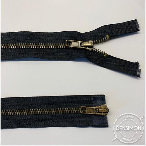 Fermeture métal 5mm séparable double curseur - Noir