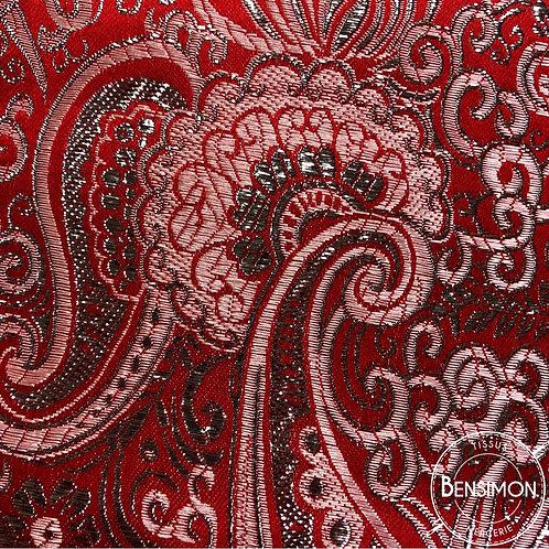 Tissu Brocart - Rouge X 50cm
