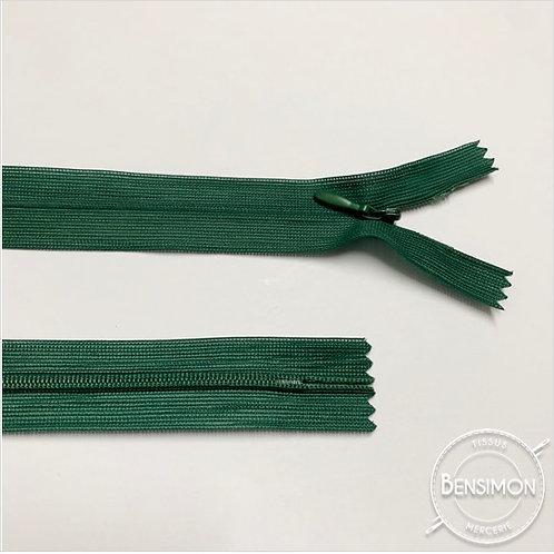 Fermeture invisible 4mm non séparable - Vert