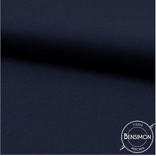 Tissu Coton uni Popeline - Marine X 50cm
