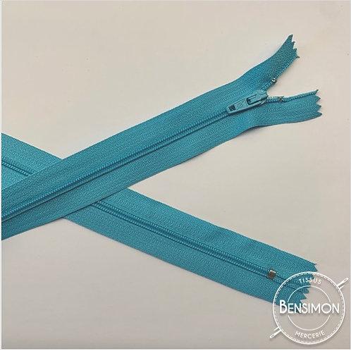 Fermetures nylon 3mm non séparables - Bleu ciel 20 à 60cm