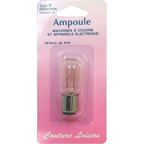 Ampoule pour machine à coudre - À baïonnette