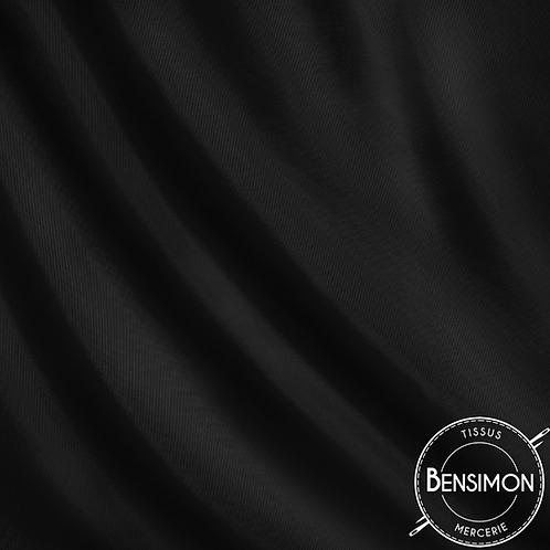 Tissu doublure satin - Noir X 50cm