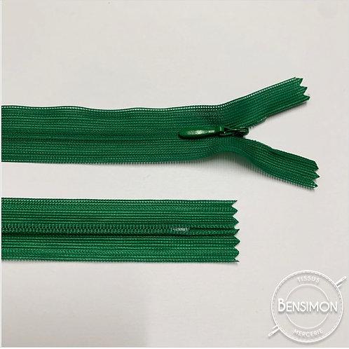 Fermeture invisible 4mm non séparable - Vert gazon