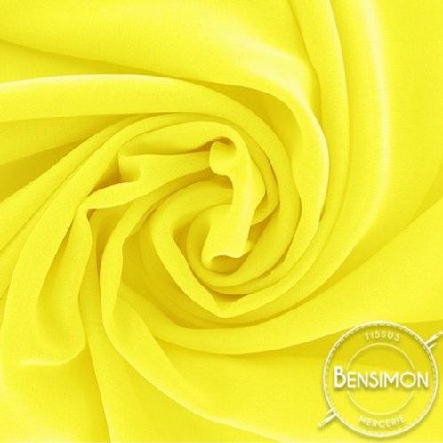 Tissu Mousseline - Jaune fluo X 50cm