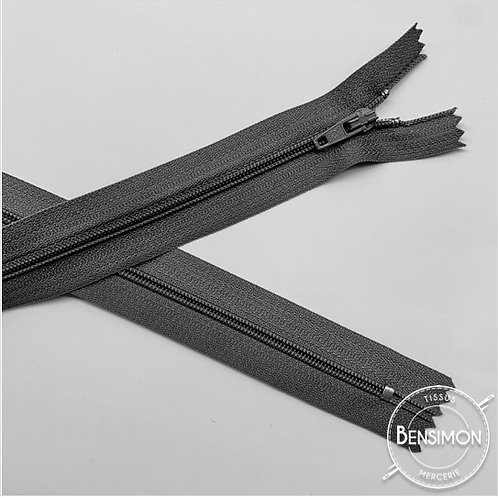Fermetures nylon 3mm non séparables - Gris moyen 20 à 60cm