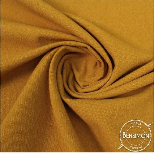 Tissu natté toile lourde - Curry X 50cm
