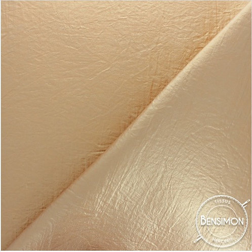 Tissu Simili Cuir Froisé - Or X 50cm