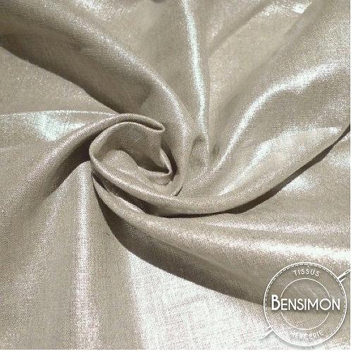 Tissu Lin enduit métallisé - Argent X 50cm