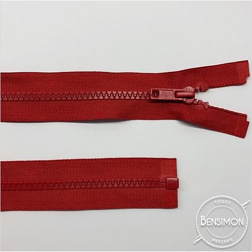 Fermeture injectée 5mm séparable - Rouge