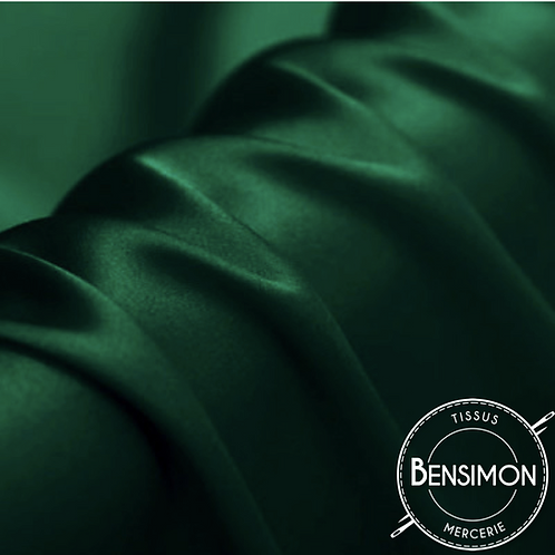Tissu satin premium - Vert bouteille X 50cm