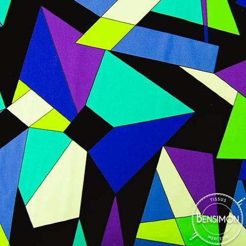 Tissu extensible Lycra stretch lamé brillant pailleté justaucorps académique danse géométrique