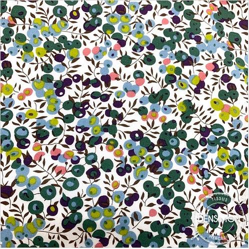 Tissu coton imprimés - Liberty Wiltshire Berry vert d'eau X 50cm