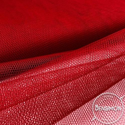Tulle rouge grenadier tutu raide grande largeur mariage