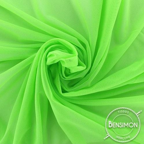 Tissu Tulle élasthanne résille - Vert Fluo X 1M