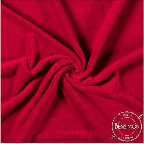 Tissu Pilou - Rouge X 50cm
