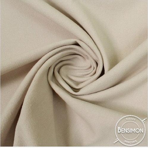 Tissu natté toile lourde - Écru X 50cm