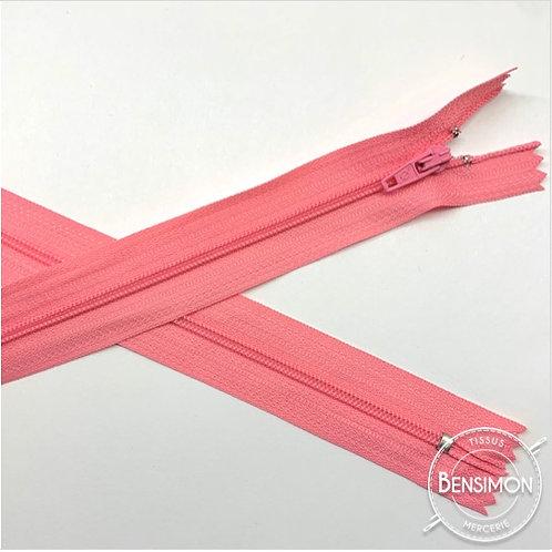 Fermetures nylon 3mm non séparables - Rose 20 à 60cm