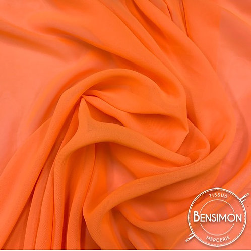 Tissu Mousseline - Orange X 50cm