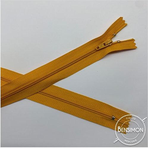 Fermetures nylon 3mm non séparables - Jaune d'or 20 à 60cm