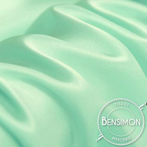 Tissu satin premium - Vert d'eau X 50cm