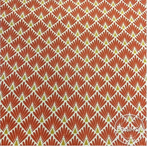 Tissu coton imprimés - Ecailles terracotta X 50cm