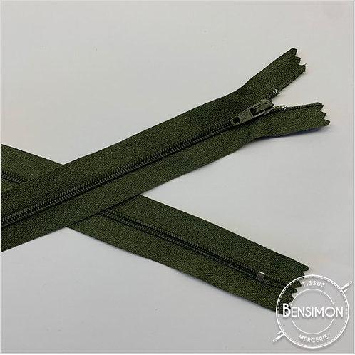 Fermetures nylon 3mm non séparables - Kaki 20 à 60cm
