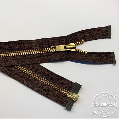 Fermeture métal YKK 5mm séparable - Marron Or