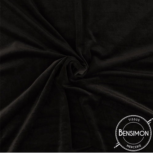 Tissu Velours - Noir X 50cm