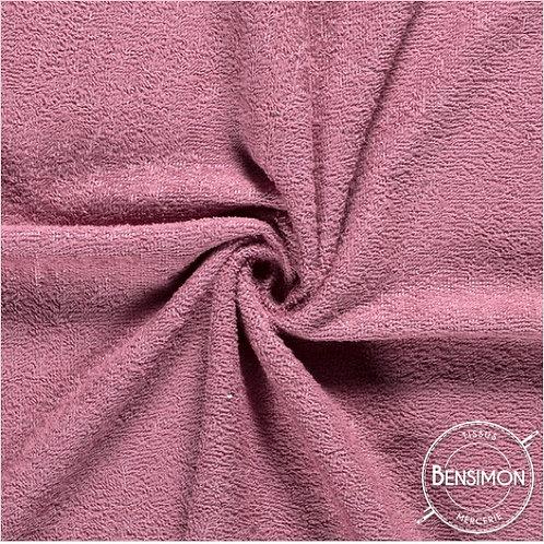 Tissu éponge coton OekoTex - Baie rose X 50cm