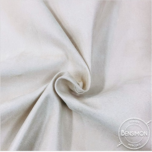Tissu Suédine épaisse unie - Blanc X 50cm