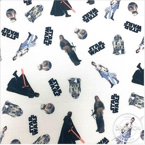 Tissu coton imprimés - Disney licence Stars Wars X 50cm