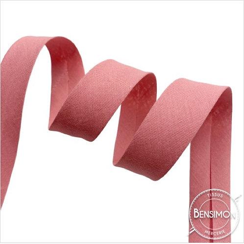 Biais coton replié 20mm - Vieux rose n°1067