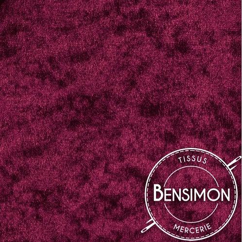 Tissu Panne de Velours - Bordeaux X 50cm