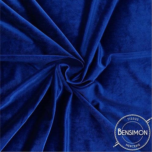 Tissu Velours - Bleu Roy X 50cm
