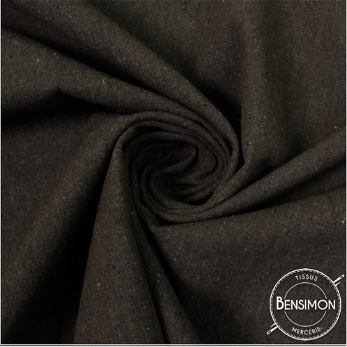 Tissu natté toile lourde - Noir X 50cm