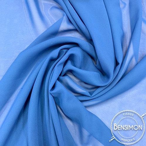 Tissu Mousseline - Bleu ciel X 50cm