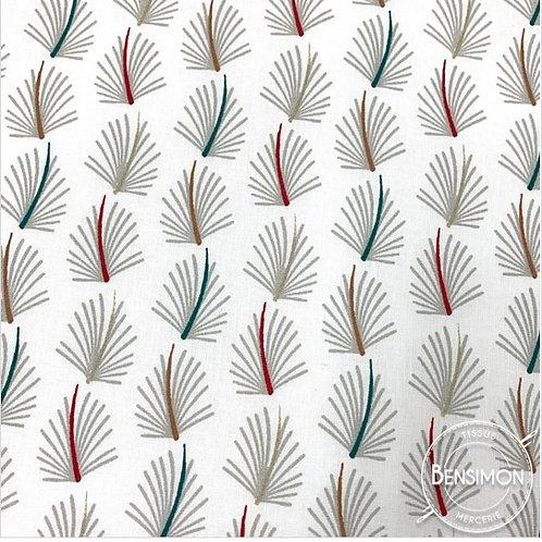 Tissu coton imprimés - Sazza lin X 50cm
