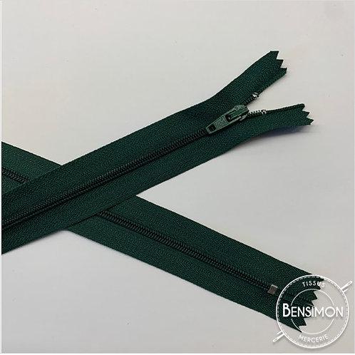 Fermetures nylon 3mm non séparables - Vert bouteille 20 à 60cm