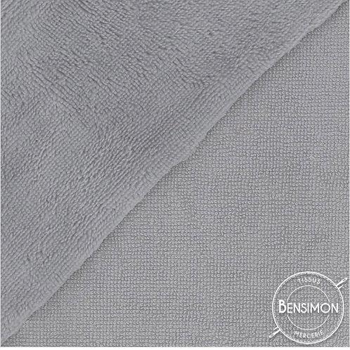 Tissu éponge Bambou OekoTex - Gris clair X 50cm