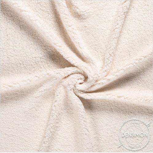 Tissu effet Fourrure Mouton - Écru X 50cm