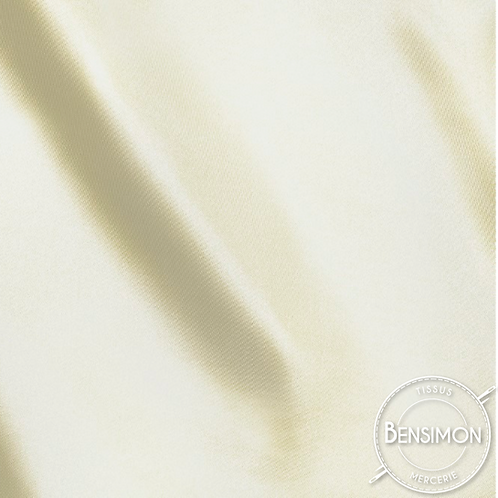 Tissu satin uni léger - Écru X 50cm
