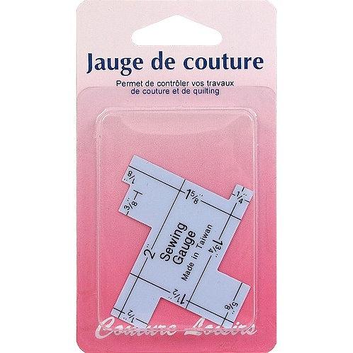 Jauge couture plastique